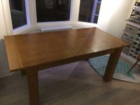 Extending Dining Table - 150cm (extending to 180cm) x 90cm Oak Veneer
