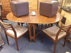 Table and 4 x chairs space saver