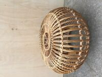 Franco Albini Lobster Pot Pouffe Footstool Ottoman Bamboo Cane