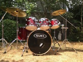 Mapex M Series Birch 6 Piece Drum Kit With Hardware and Cymbals