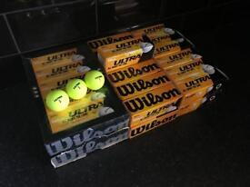 """Wilson Ultra """"All About The Long"""" Golf Balls (105 in total - Yellow)"""