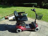 RED ELECTRIC MOBILITY SCOOTER, EXCELLENT CONDITION & VALUE - ONE YEAR GUARANTEE - £695 ONO