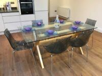 John Lewis Dining Room Table & 6 Contemporary Chairs