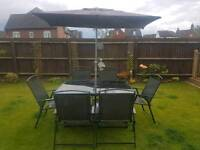 Glass garden table and chairs