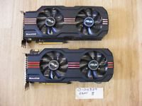Pair of Asus (nVidia) GTX570 DCUII graphics cards for sale