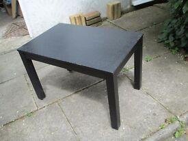 Small, sturdy black coffee table