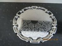 Vintage scalloped edge Silver Serving Tray