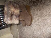 Ladies Dune calf length boots size 7