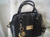 NEW COUTURE PIERRE CARDIN LEATHER HANDBAG