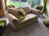 Three and Two Seater NEXT sand colour fabric Sofa