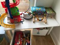 Jojo maman Bebe table with storage boxes