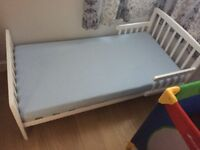 Immaculate cot bed and mattress