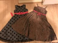 2 x Beautiful 8 - 9 Yr Old Ladybird Dresses - Clean and Washed