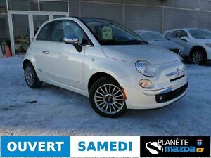 2012 FIAT 500 CONVERTIBLE LOUNGE CUIR AIR CRUISE MAGS