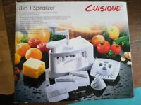 Cuisique 8 in 1 Spiralizer - great condition with box