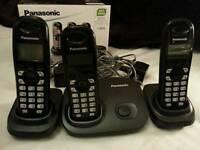 Panasonic kxtg7303 trio dect black