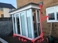 mini-conservatory/patio doors from Barratt Hexam House £400