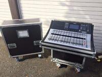 Yamaha TF3 (28 channel digital mixing desk), Nuendo live & Custom tourgrade flightcase