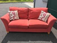 Red Sofa with cushions
