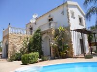 Traditional Villa Sofia. Luxury 3 bedroom villa with private pool for rent in Vrysoulles, Cyprus.