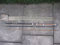 Cane fishing rod by Geo.Wilkins & Son of Redditch