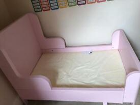 Ikea pink extendable bed.