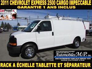 2011 Chevrolet Express 2500 CARGO 1 SEUL PROPRIO RACK TABLETTE