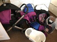 Oyster travel system, pram, car seat, baby bath