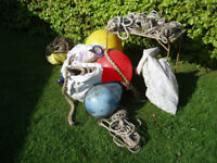 boating clearout. buoys, fenders , rope