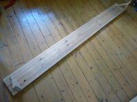 Long wooden shelf