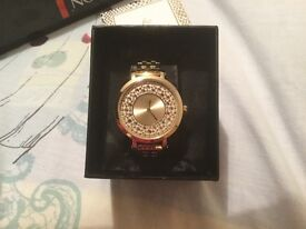 Lipsy Lipsy Stone Dial Gold Tone Stainless Steel Ladies Watch