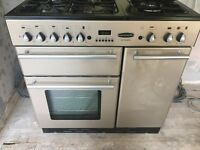 Rangemaster Toledo gas and electric cooker (5 rings) with hood