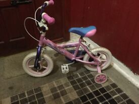 "Girls 12"" Bicycle with Stabilisers"