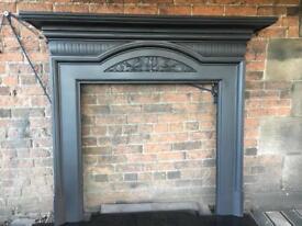 DEL £25 uk antique art nouveau cast iron fire surround