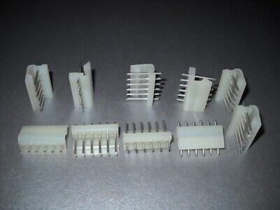 Qty 10 Molex 6 Round Pin Header .156 Friction Lock 3.96mm 09-65-1061 09651061
