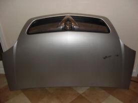 Vauxhall Meriva A bonnet. Silver.