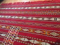Authentic Moroccan Flat woven Kilim Rug, Geometric Pattern