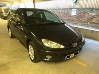 Peugeot 206 - low miles, 2006, black, 3 door, hatchback, 2 lady owners, economical, great first car