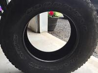 4 good used Goodyear AT/S Wrangler tires