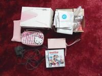 Pink DS lite with box, charger, Hello Kitty case and Imagine Baby club game. £20