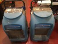 Spares or Repairs - Pair of Drieaz Drizair 1200 Professional Dehumidifiers