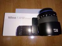 Carl Zeiss Milvus 50mm 1.4 ZE - Canon Fit