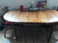 Real wood extending dining table