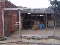 Heras Fence Panel with Pedestrian Gate. Round Top Includes x3 Feet. Site Security.