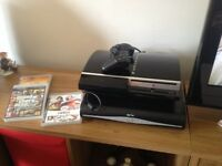 £30 playstation 3 80G 1 x controller wireless and 3 games 30 quid can drop off for fuel costs