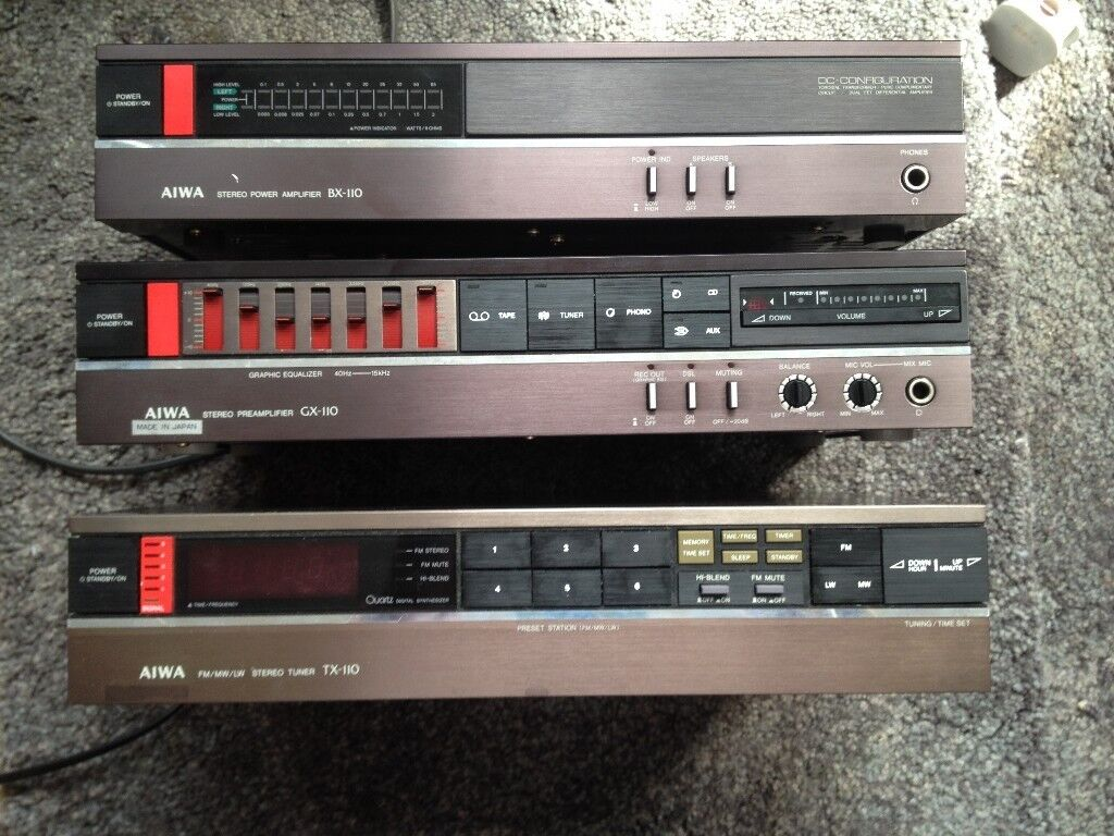 *****AIWA POWER AMP, PRE AMP AND TUNER - £2000**** SERIOUS HIGH END ****