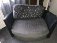Swing love chair grey and black