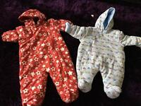 Baby boys snow suits 0-3