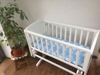 White gliding crib - Mothercare