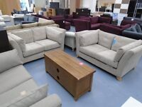 Brand New Mink 2+2 Seater Fabric Sofas Are Only £500. Retail At £1100. Can Deliver.
